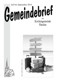 Gemeindebrief Juli-September 2014 - Copyright: Kirchengemeinde Haselau